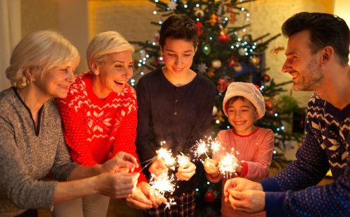 famille Réveillon de Noël